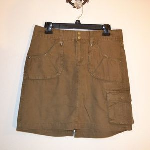 Athleta brown cargo skirt size 10